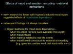 effects of mood and emotion encoding retrieval interactions21