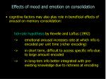 effects of mood and emotion on consolidation16