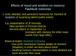 effects of mood and emotion on memory flashbulb memories