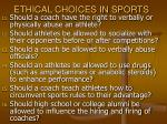 ethical choices in sports33
