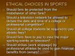 ethical choices in sports35