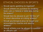 ethical choices in sports36