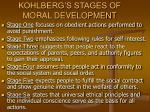 kohlberg s stages of moral development