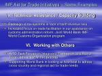 imf aid for trade initiatives some examples v technical assistance capacity building
