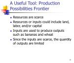 a useful tool production possibilities frontier