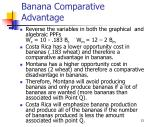 banana comparative advantage