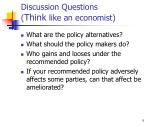 discussion questions think like an economist