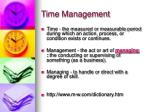 time management5