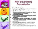 ways of overcoming procrastination