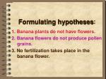 formulating hypotheses