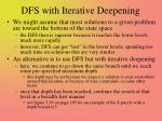 dfs with iterative deepening