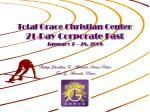 total grace christian center 21 day corporate fast january 7 28 2008