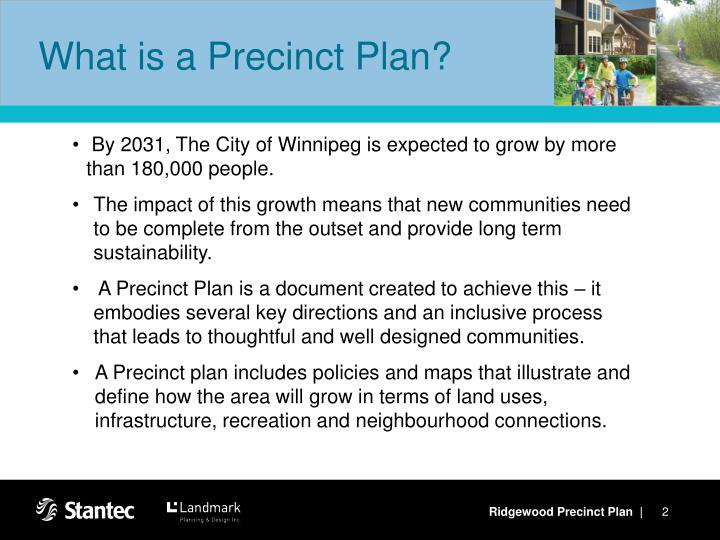 What is a precinct plan