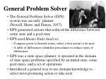 general problem solver