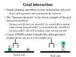 goal interaction
