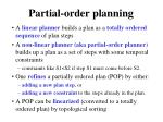 partial order planning