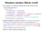situation calculus blocks world