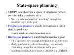 state space planning