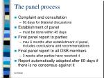 the panel process