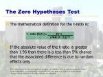 the zero hypotheses test