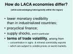 how do laca economies differ while acknowledging heterogeneity within the region