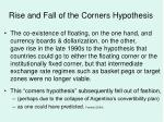 rise and fall of the corners hypothesis
