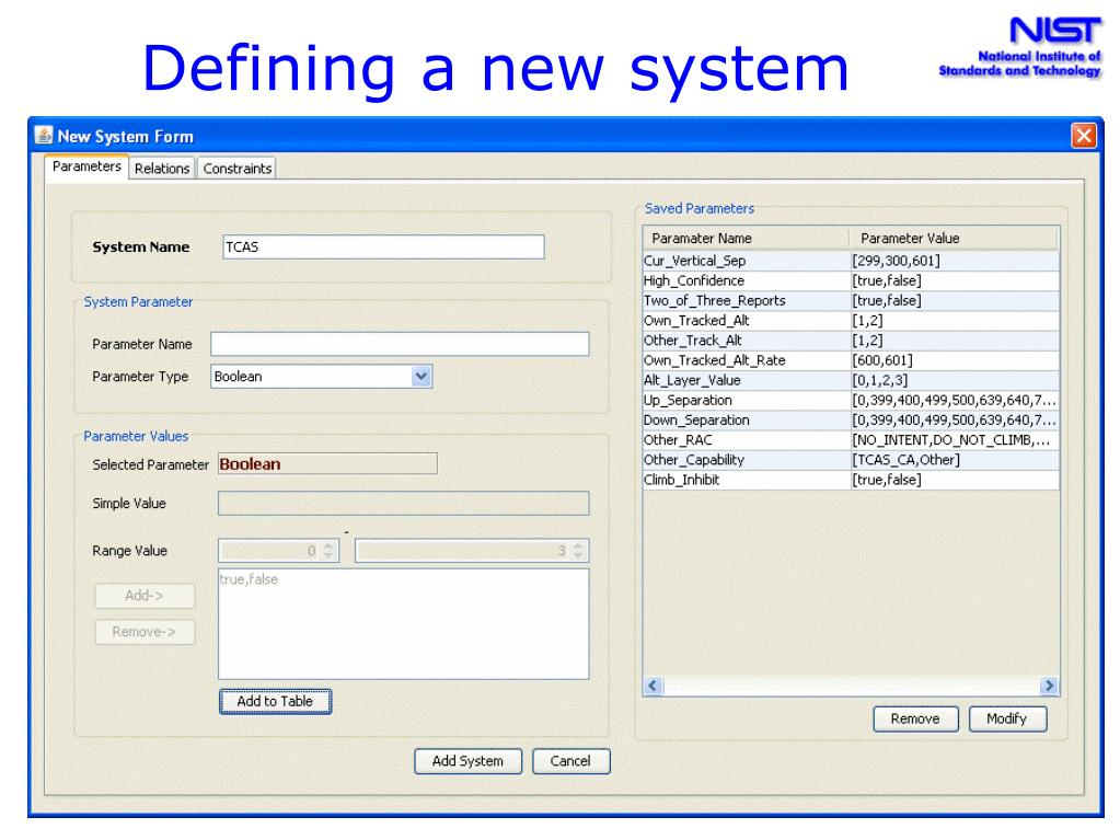 Defining a new system