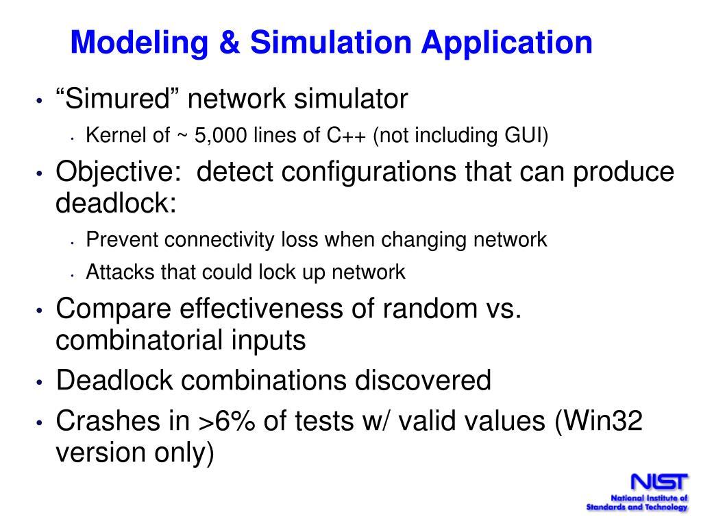Modeling & Simulation Application