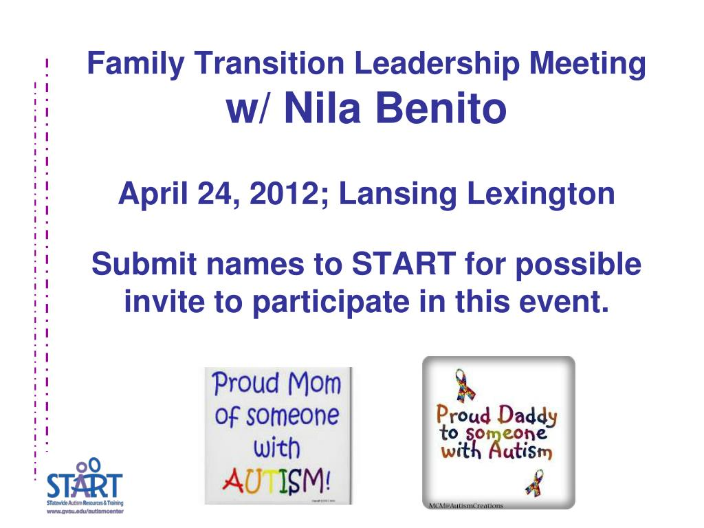 Family Transition Leadership Meeting