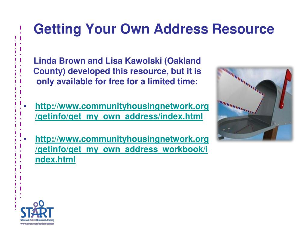 Getting Your Own Address Resource