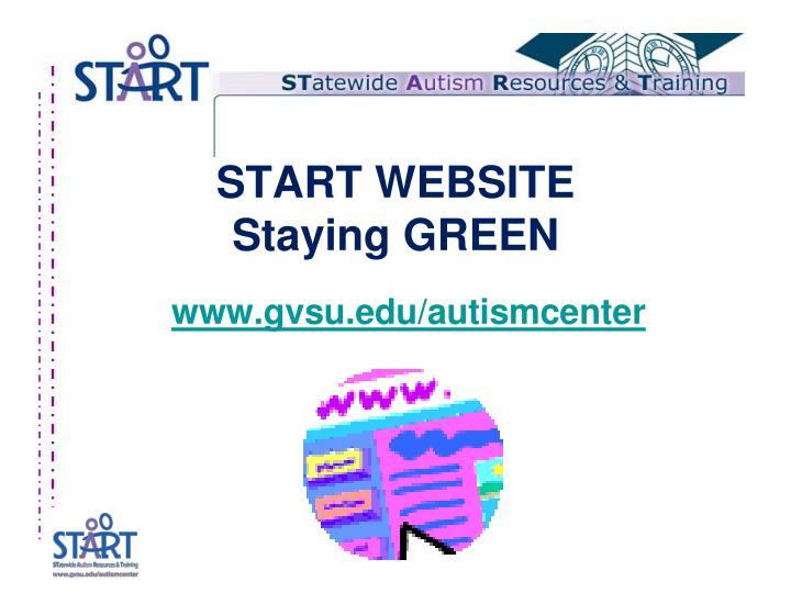 Start website staying green