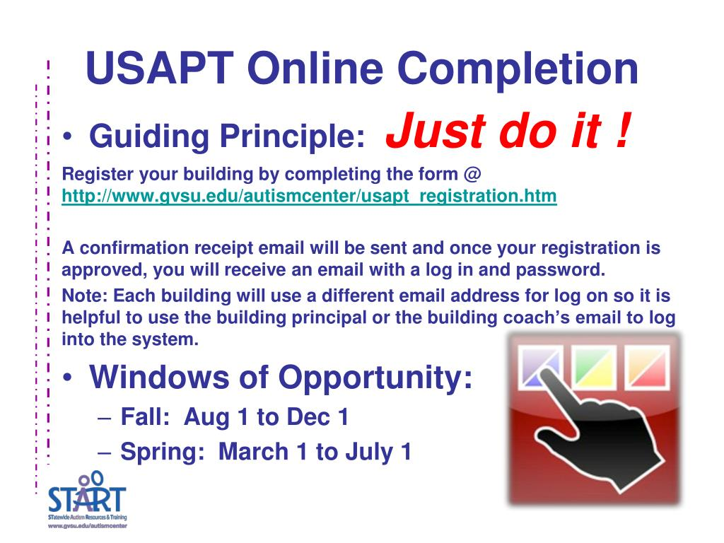 USAPT Online Completion