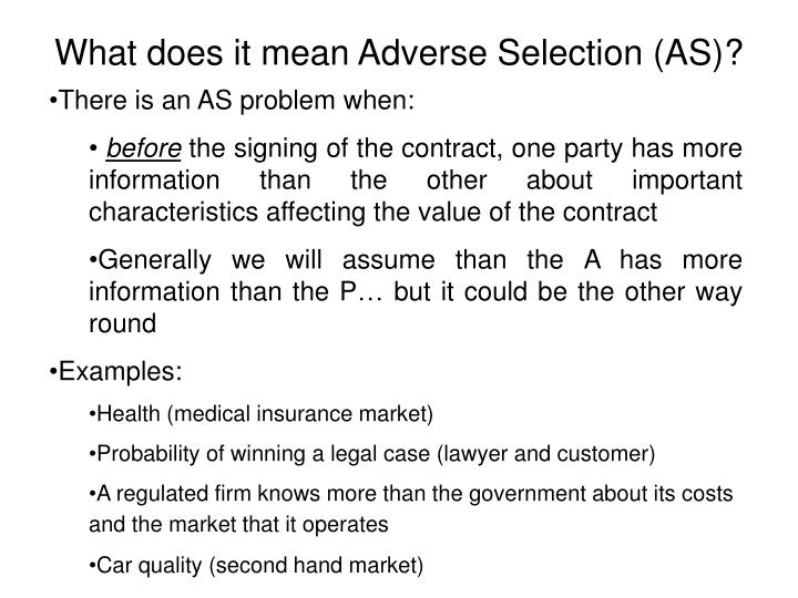 Ppt Optimal Contracts Under Adverse Selection Powerpoint