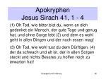 apokryphen jesus sirach 41 1 4