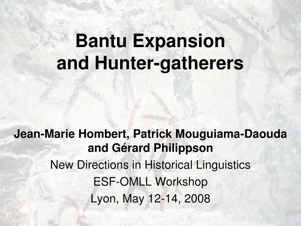 bantu expansion and hunter gatherers l.