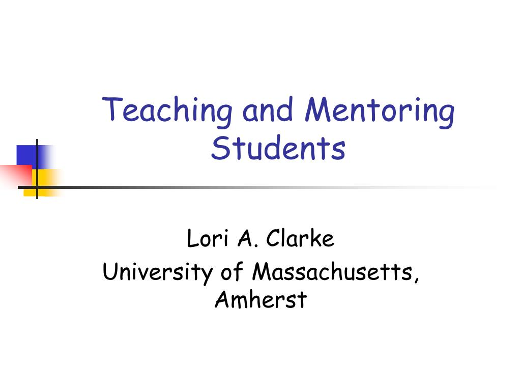 teaching and mentoring students l.