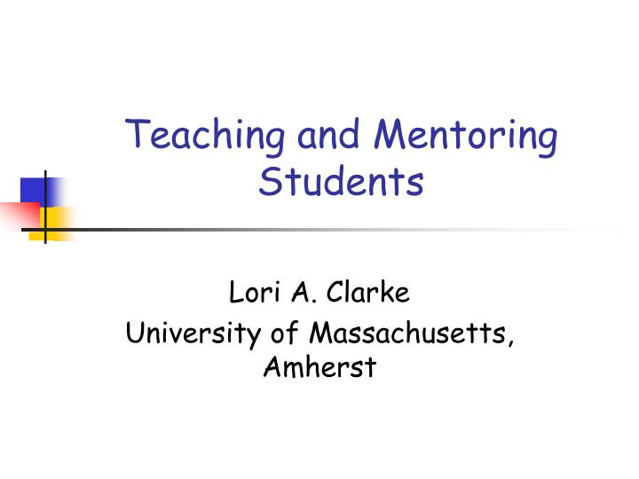 teaching and mentoring students n.