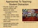 approaches to teaching student distraction