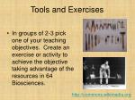 tools and exercises