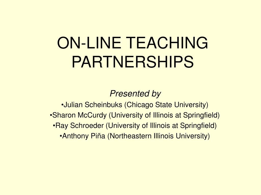 on line teaching partnerships l.