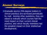 alumni surveys