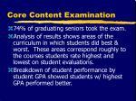 core content examination