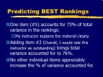 predicting best rankings