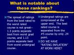 what is notable about these rankings