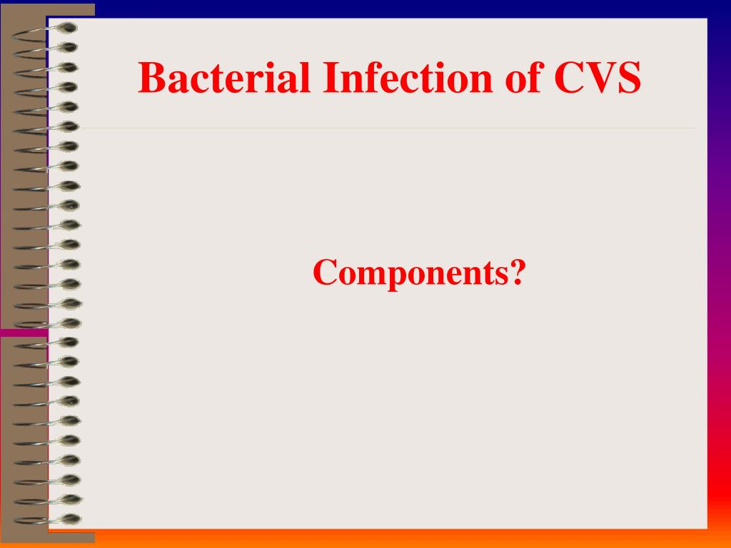 Bacterial Infection of CVS