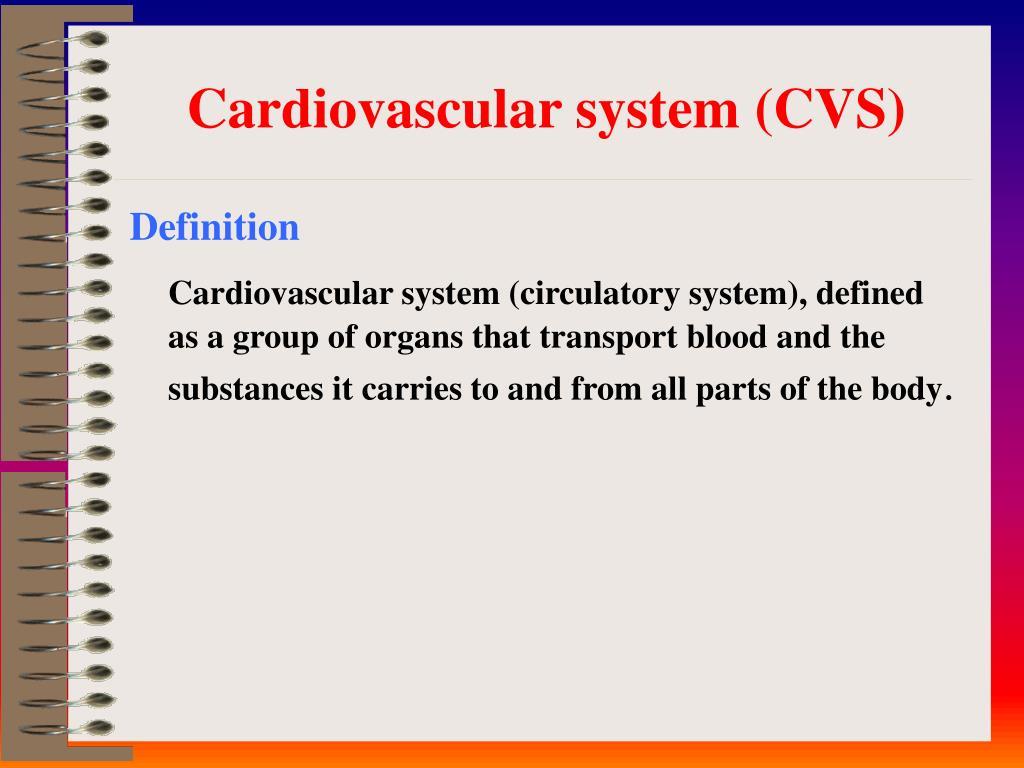 Cardiovascular system (CVS)