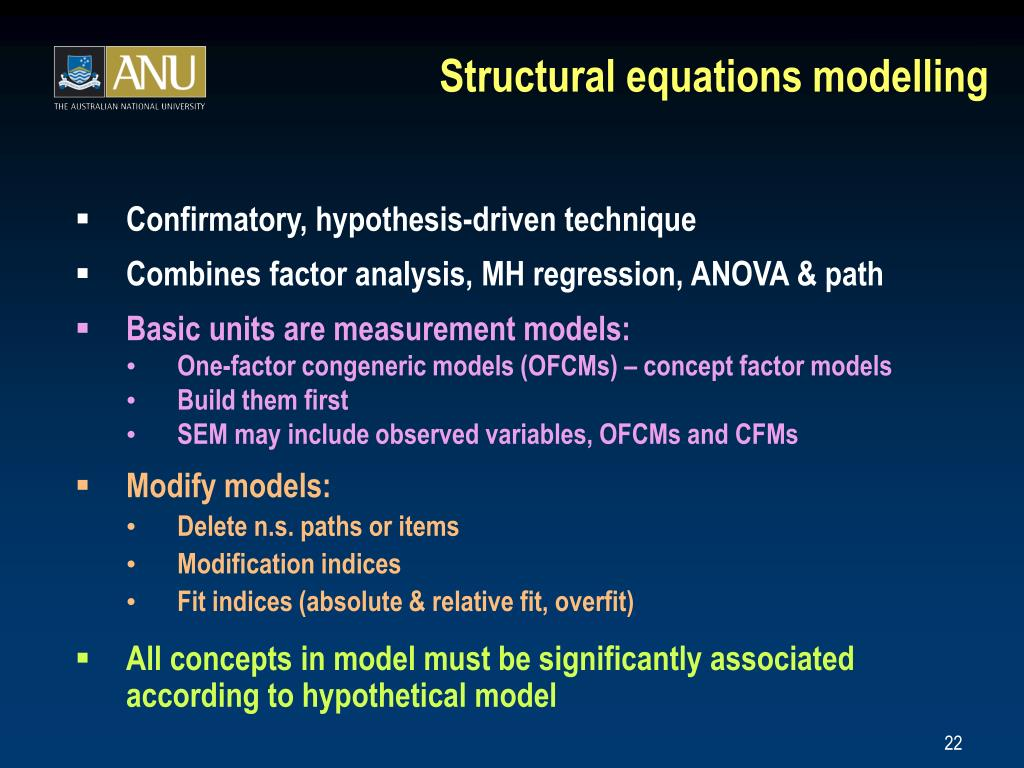 Structural equations modelling