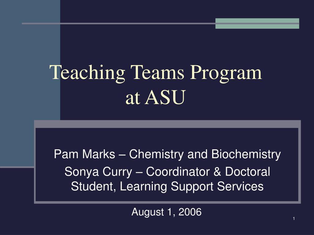 teaching teams program at asu l.