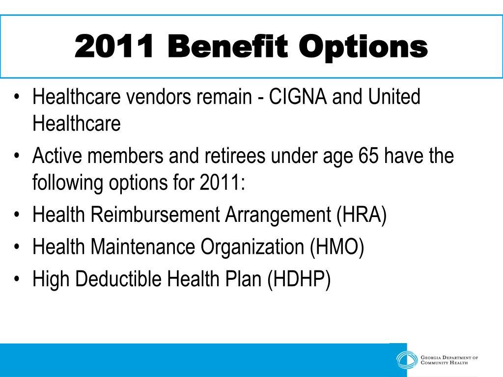 2011 Benefit Options