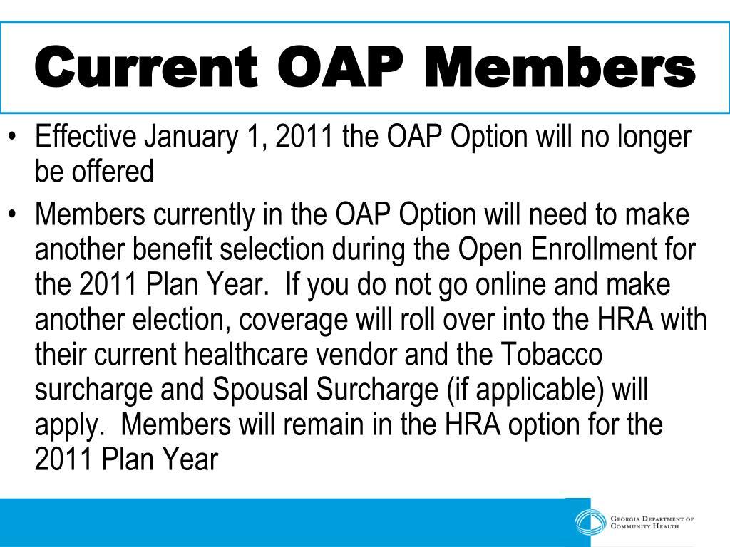 Current OAP Members
